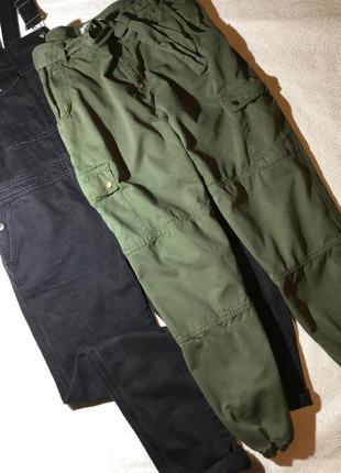 Штаны джоггеры карго хаки new look размер 16