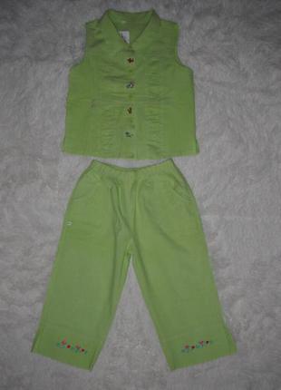Хлопковые детские костюмы на 1-5 года для девочки