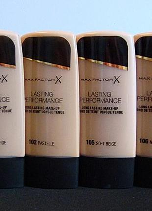 Тональный крем max factor lasting performance 100 101 102 105 ...