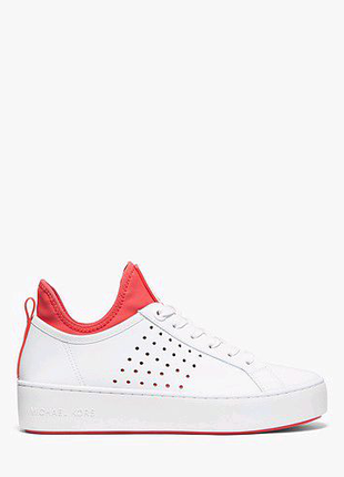Стильные кожаные кроссовки Michael Kors