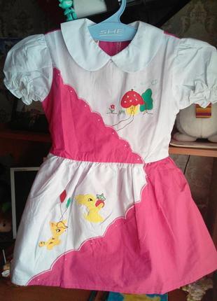 Платье на девочку ростом 98-104-110. Есть замеры