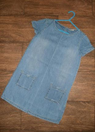 Джинсовое платье next  на 8 лет