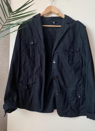 Лляний жакет/ піджак/ пиджак из льна, большой размер