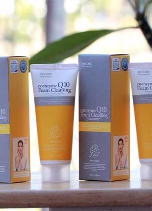 💛 пенка для умывания с коэнзимом q10 3w clinic coenzyme q10 fo...