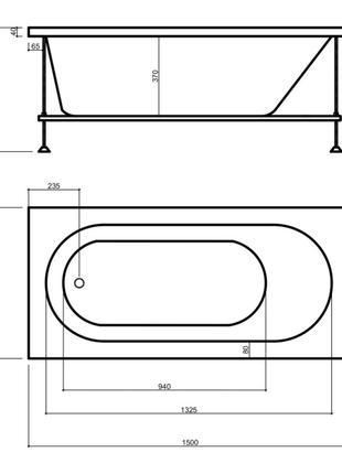 Wave Garda 15070 ванна акриловая 150*70, 160х70, 170х70