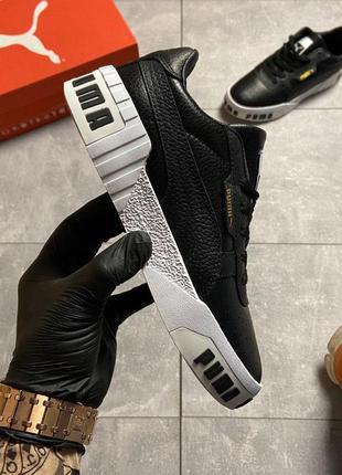 Puma cali black and white sole.