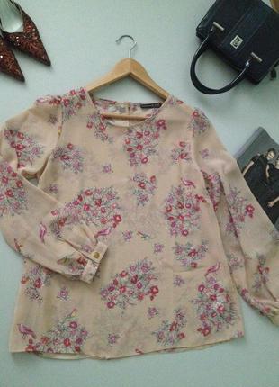 Красивая блузочка с принтом.0001