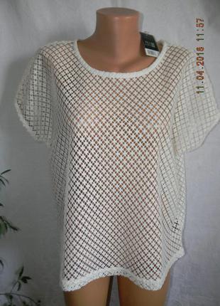 Кремовая новая кружевная блуза