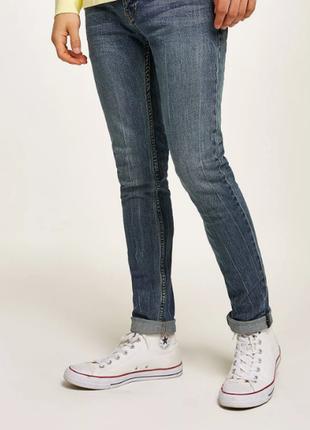 Зауженные джинсы topman stretch skinny jeans 30/32 стречевые д...