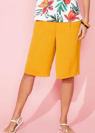 Крутые новые шорты размер 14/m-l бриджи bonmarche горчичного ц...