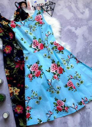Натуральное красивое платье в принт