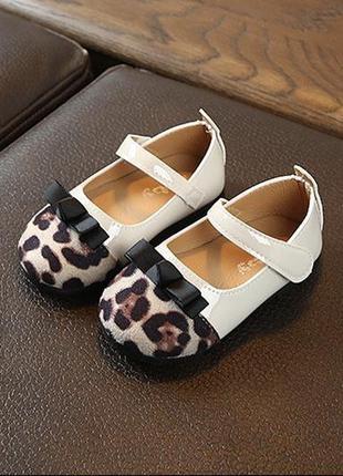Туфли лео леопард модные