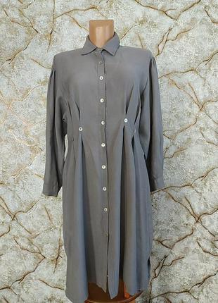 Шикарное  платье- рубашка в винтажном стиле molijia lastin