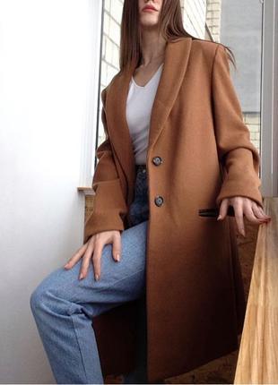 Пальто женское шерстяное / Германия / пальто бежевое / пальто кем