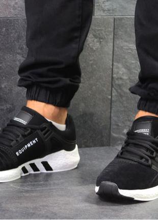 Кроссовки Adidas черно белые