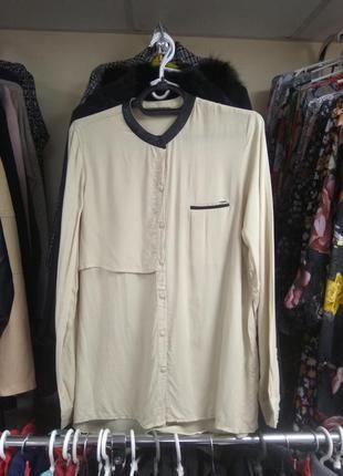 Блуза со вставками кож-зам Dilvin