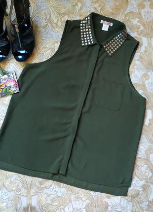 Красивая нарядная блуза. на бирке- xl р-р.