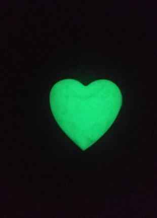 Брелок сердечко 2 -(светится в темноте).