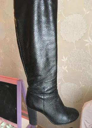Сапоги кожаные Braska. Б/у. Размер 36.