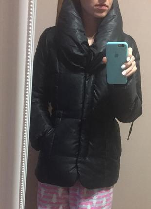 Куртка зимняя тёплая пуховик фирменный esprit размер s/m