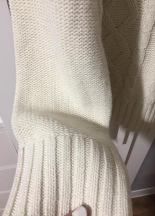Красивый тёплый вязаный  акриловый нежный  свитер/джемпер цвет...