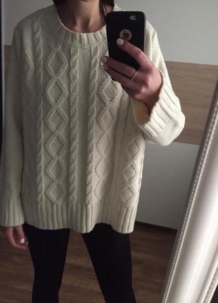 Красивый базовый  вязаный  акриловый нежный  свитер/джемпер цв...