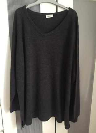 Красивый тёплый графитовый  акриловый свитер/джемпер/ пуловер ...