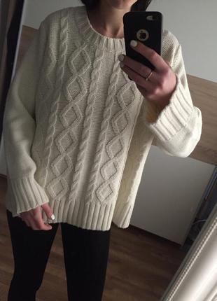 Красивый базовый  вязаный  акриловый   свитер косы /джемпер цв...