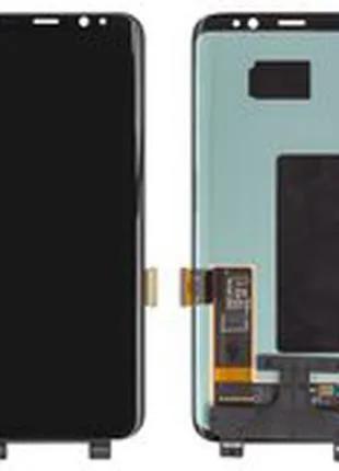 Модуль Samsung G950 Galaxy S8, черный ОРИГИНАЛ(переклеено стекло)