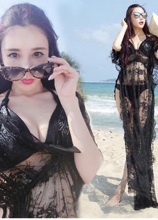 78 кружевное платье / прозрачный пеньюар / парео