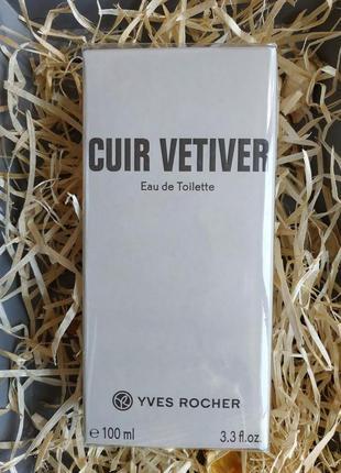 Туалетная вода 100 мл  cuir vetiver для мужчин ив роше yves ro...