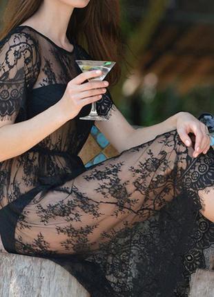 26 кружевное платье / прозрачный пеньюар / парео