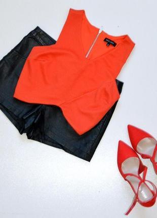 Стильный кроп-топ морковно-красного цвета, new look