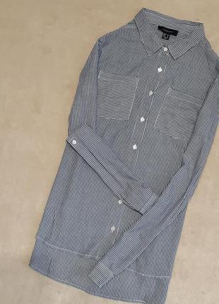 Рубашка хлопок в полоску с накладными карманами размер 12 atmo...