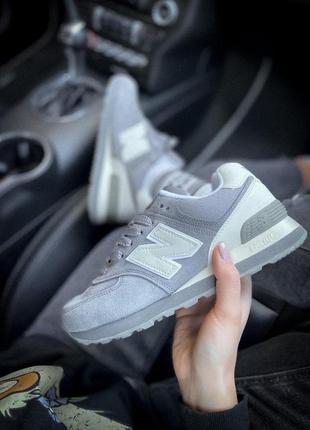 Шикарные женские кроссовки new balance серый цвет (весна-лето-...