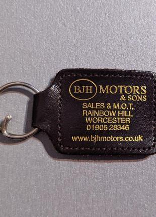 Брелок для ключей из натуральной кожи bjh motors & sons