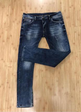 Мужские зауженные джинсы 33 размер