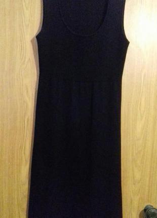 Теплое платье средней длины черного цвета от zero p.36-38