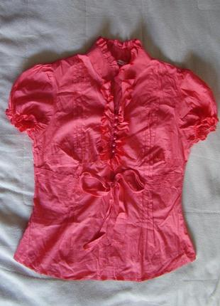 Блуза кораллового цвета