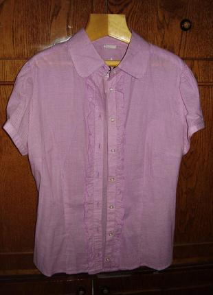 Блуза-рубашка в дрібну клітинку