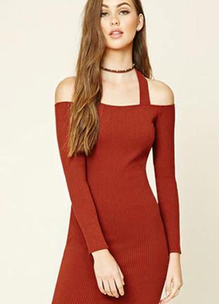 Forever 21.товар из англии.новое платье футляр с вырезами на п...