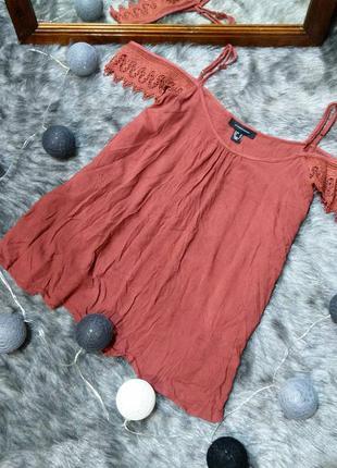 #розвантажусь топ блуза кофточка на бретелях с вырезами на пле...