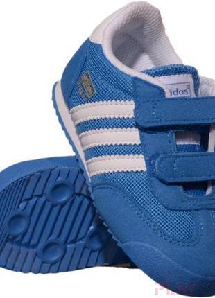 Adidas d67706 кроссовки нейлоновые унисекс синие 14-14.5 см