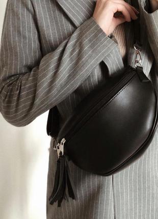 Поясная черная сумка бананка (есть цвета)