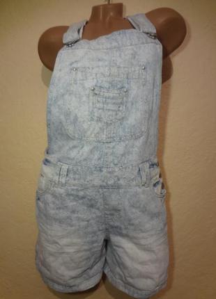 Комбинезон джинсовый шортами promod размер l