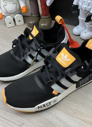 Кроссовки off-white x adidas nmd nasty black