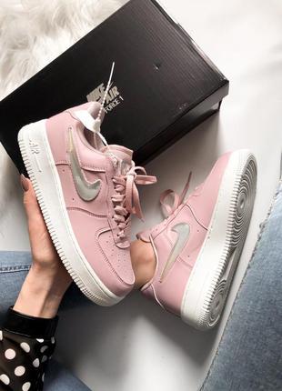 Nike air force pink 🔺 женские кроссовки найк еир форс розовые