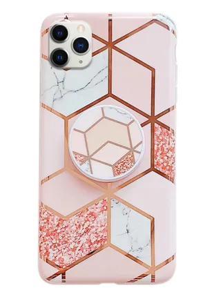 Чехол Геометрия с держателем для телефона для Apple iPhone 11 Pro