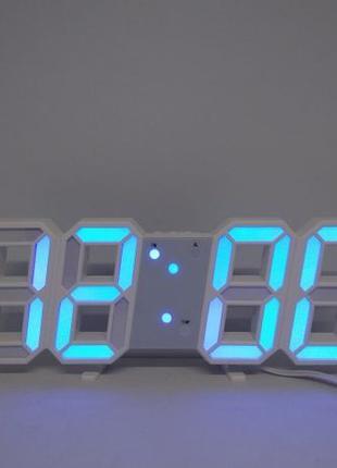 Электронные настольные LED часы с будильником и термометром LY...
