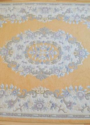 Натуральный персидский ковер из бараньей шерсти (оранжевый). 2...